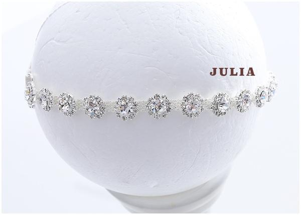 Julia Headband - Strass Stirnband Neugeborene